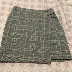 Patterned asymmetrical skirt